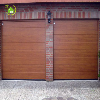 Wood Grain Color Interior Roll Down Doors Whole Electric Up Garage