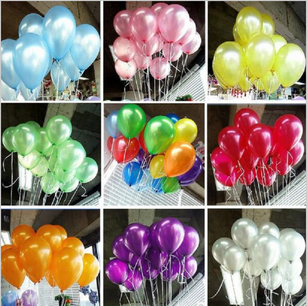 100pcs/lots wholesales 12 inch Round latex balloons For birthday wedding party Gold balloon Pearlized color