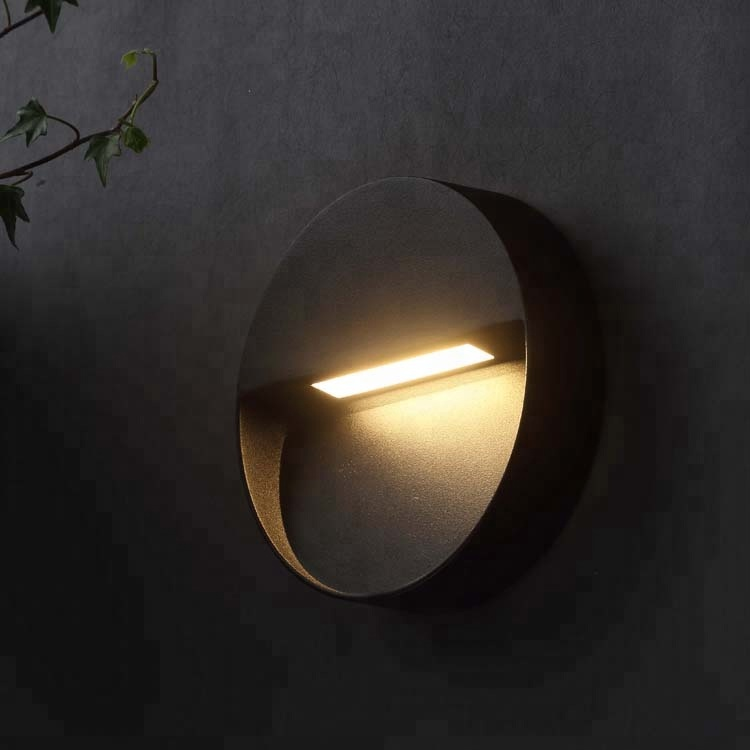 Exterior 4W round outdoor wall lights mounted lighting fixtures for garden explosion proof for UK market