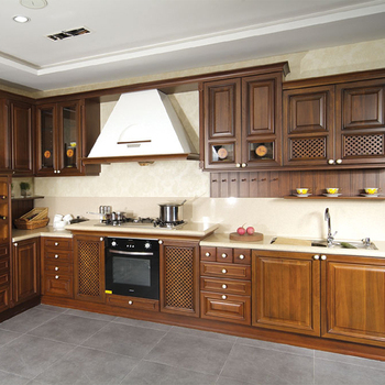 Luxury Solid Wood Walnut Kitchen Cabinets Carved Wood Kitchen Cabinet Doors  - Buy Solid Wood Walnut Kitchen Cabinets,Cabinets Wood Kitchen,Carved Wood  ...