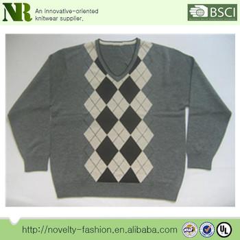 Latest Sweater Designs Custom Mens Argyle Sweater Knitting Pattern