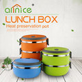 High quality round shape multi layers food container plastic layer lunch box set