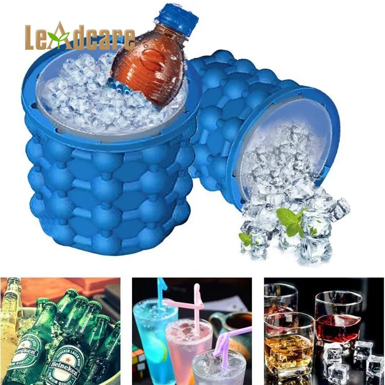 Ruimtebesparend Ronde Silicone Mold Ice Genie Ice Cube Maker, Custom Siliconen Wijn Ijsemmer