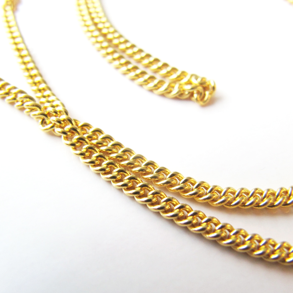 chain gold chains yellow co solid rope avianne inches mens mm
