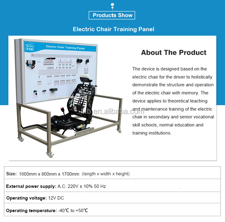Fantastic Electric Chair Training Bench Car Seat Parts Automotive Training Equipment View School Lab Trainer Fxb Product Details From Shenzhen Fxb Educational Dailytribune Chair Design For Home Dailytribuneorg