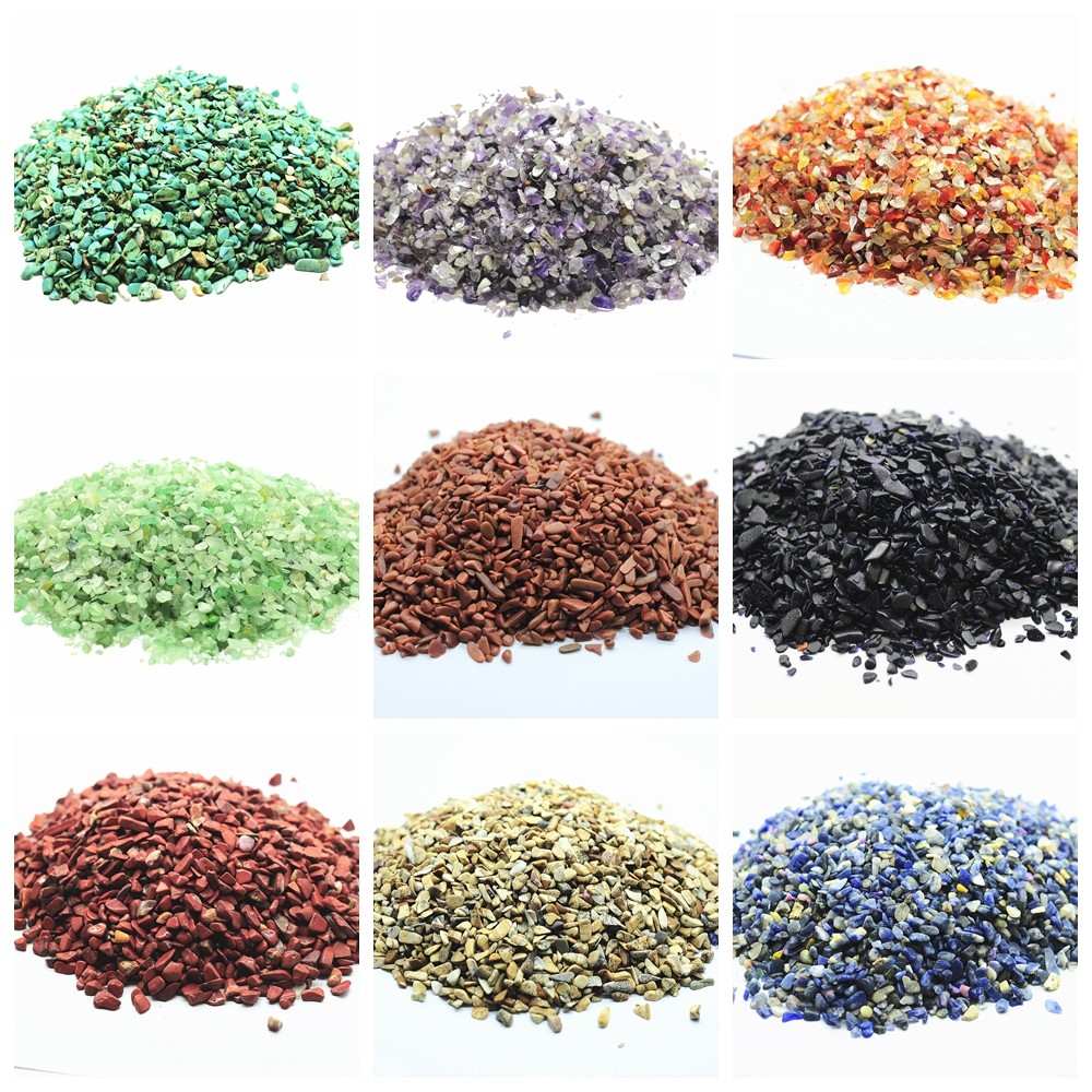 Wholesales Loose Bulk Natural Raw Rough Crystal & Semi precious stone Chip Beads no drilled hole size 3~5MM no polished