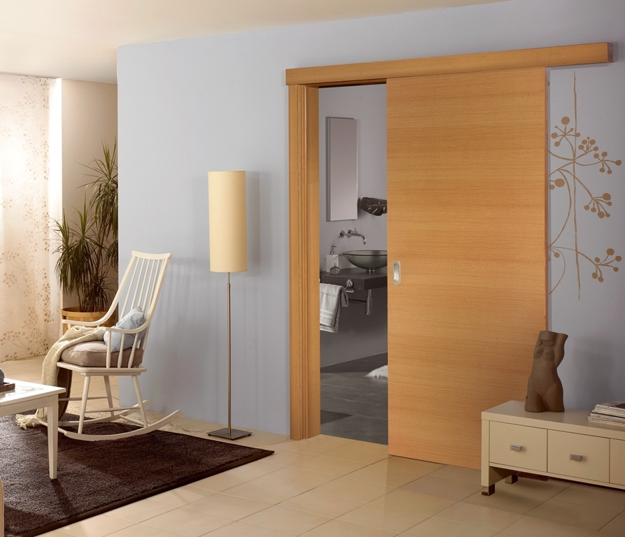 Latest Design Framed Wood Sliding Door
