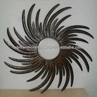 Wall Mirror Iron Indian Handicrafts 1847
