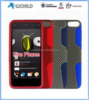 2 in 1 mesh pc shockproof silicone mobile phone cover for amazon fire phone