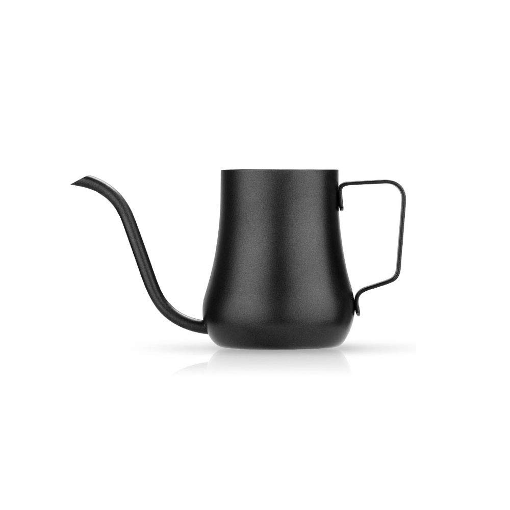 Stainless Steel Coffee Pot Fine Mouth Pot Gooseneck Pot Teapot Hand-washing Coffee Pot 8x9cm (Color : Coffee pot)