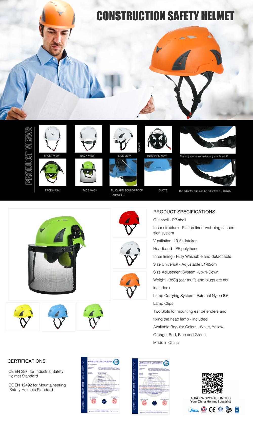 Hot selling electrical safety helmet for construction/Treeclimbing/arboriculture 8