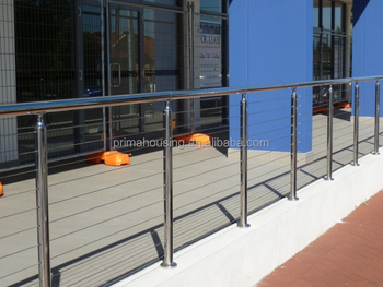 Popular Stainless Steel Wire Mesh Handicap Stair Rails