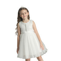 new children evening slim party dress for baby girls