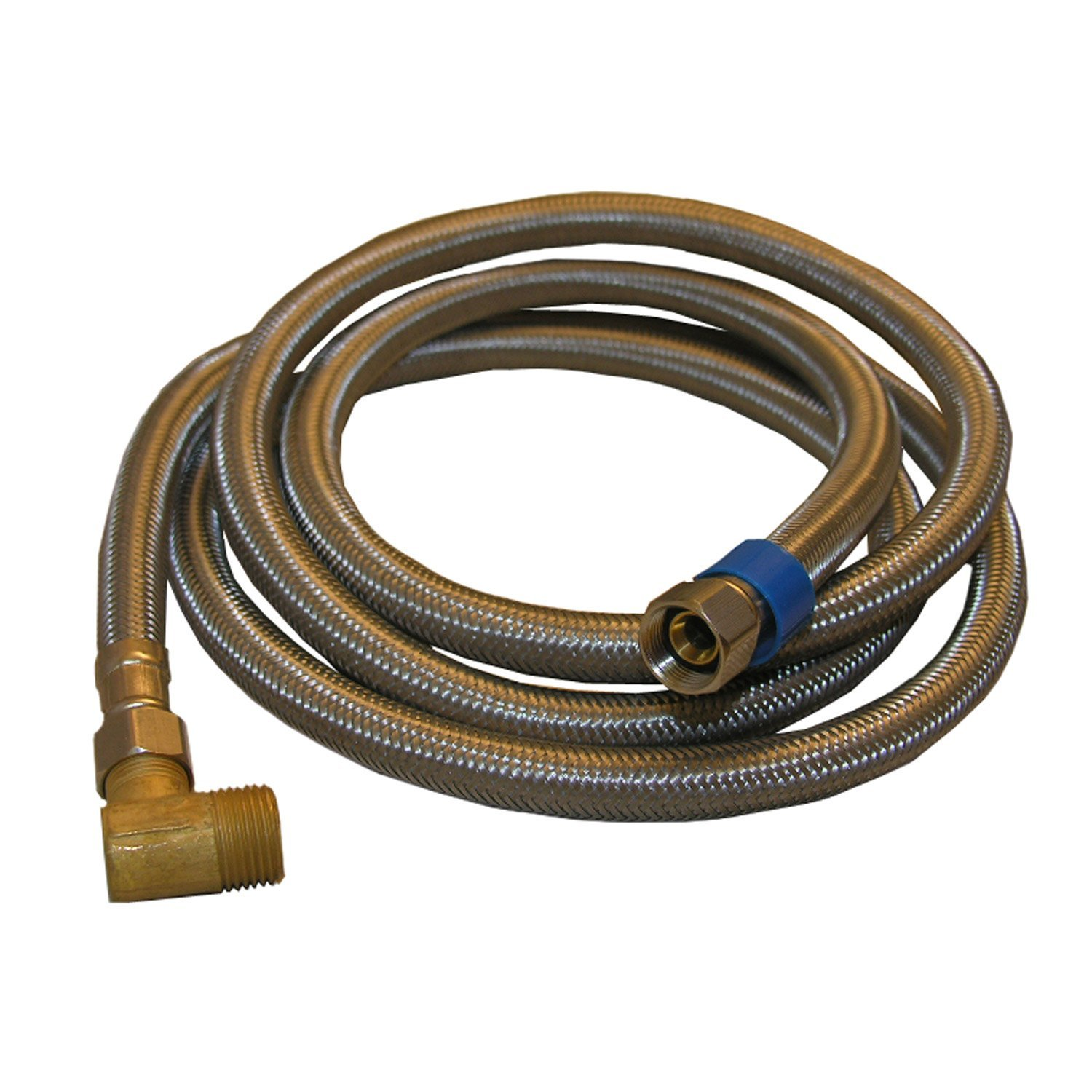 LASCO 10-0972 Braided Stainless Steel Dishwasher Supply Line with 3/8-Inch Compression