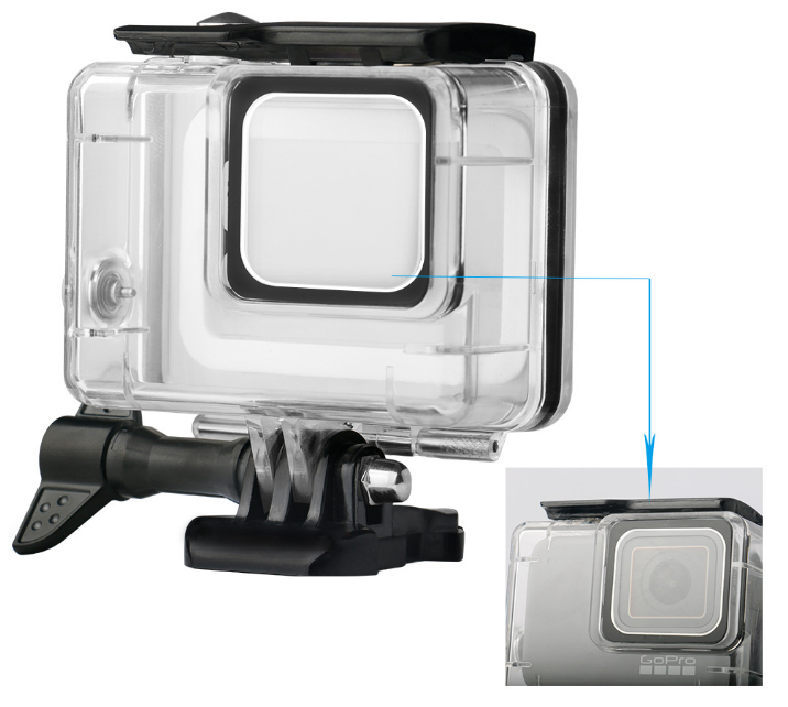 New Waterproof Case for GoprosHeros 7 Silver And White Action Camera Accessories Underwater Diving Protective Housing Case Cover