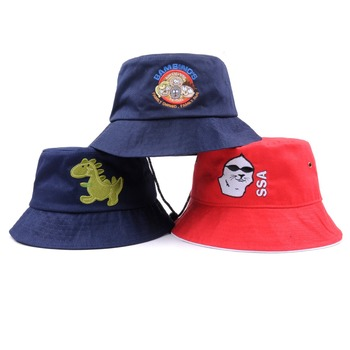 Cheap funny embroidery logo children bucket hat wholesale