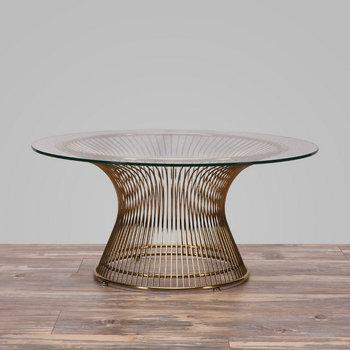 Designer Möbel Glas Draht Tisch Replik Warren Platner Couchtisch