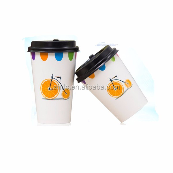 China wholesale logo printed disposable paper coffee cups single wall paper cup tea cups