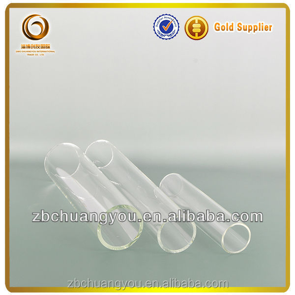 Clear round bottom glass test tube/cigar tube/labware test tube(L-079)