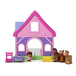NEW! Fisher-Price Little PINK People Pony Stable w/Sounds & Tunes! Plus FREE Minnie Mouse Surprise Bonus!
