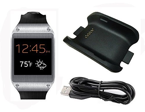 Galaxy Gear Charger EfanrR Black High Quality Replacement Charging Cradle Dock