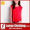 Customized sleeveless 100% polyester t shirts for women