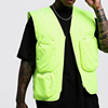 Fashion wholesale custom high quality mens sleeveless neon utility cargo vest vintage gilet