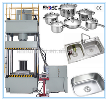 aluminum foil container product line punching machine power press metal sheet punching hole