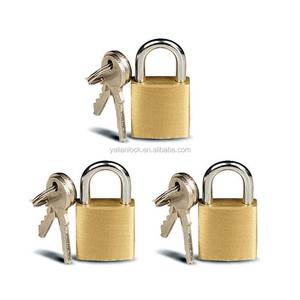 3 Small Metal Padlocks Mini Brass Tiny Box Locks Keyed Jewelry 2 Keys 20mm New !