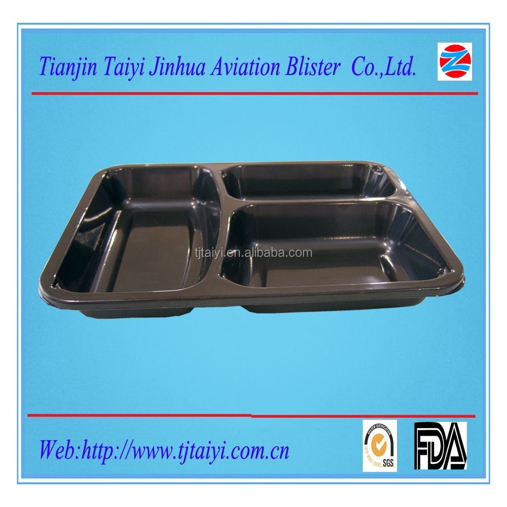 disposable plastic sushi tray for airline