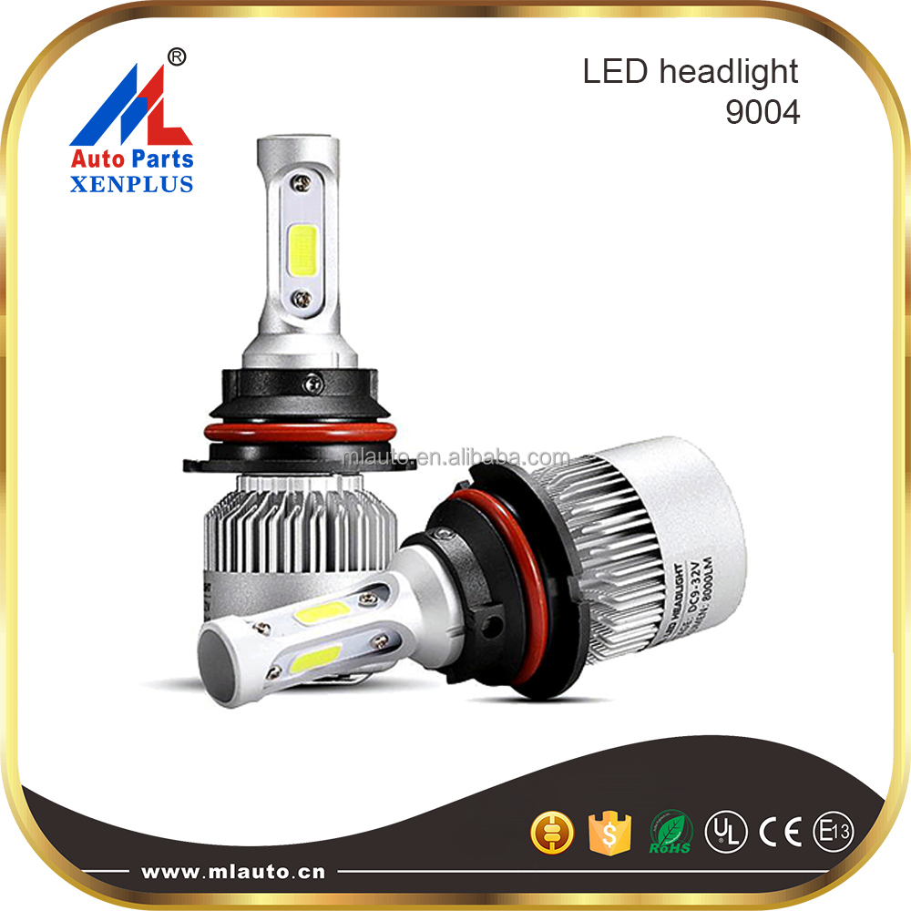 Factory direct whole price S2 led car headlight kit 9004 9005 9006 h4 h7 h13 led headlight