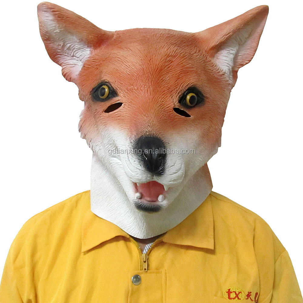 Customized color Rubber latex fox mask