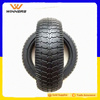 6.5 inch small solid semi pneumatic rubber wheel hollow wheel