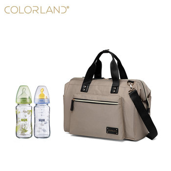 Europe quality standard elegant tote bag shoulder bag with changing pad