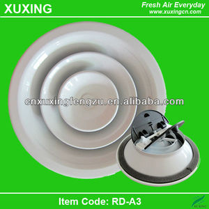 adjustable round vent air diffuser louver fan for ventilation system