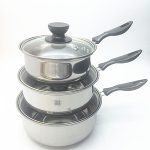 Cheap Price Stainless Steel Kitchenware Tools Milk Pots Metal Soup Pot Sauce Pan With Single Handle
