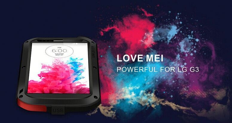 Love Mei Powerful Metal Aluminum Waterproof Case For Lg G3,For Lg G3 Waterproof Accessories