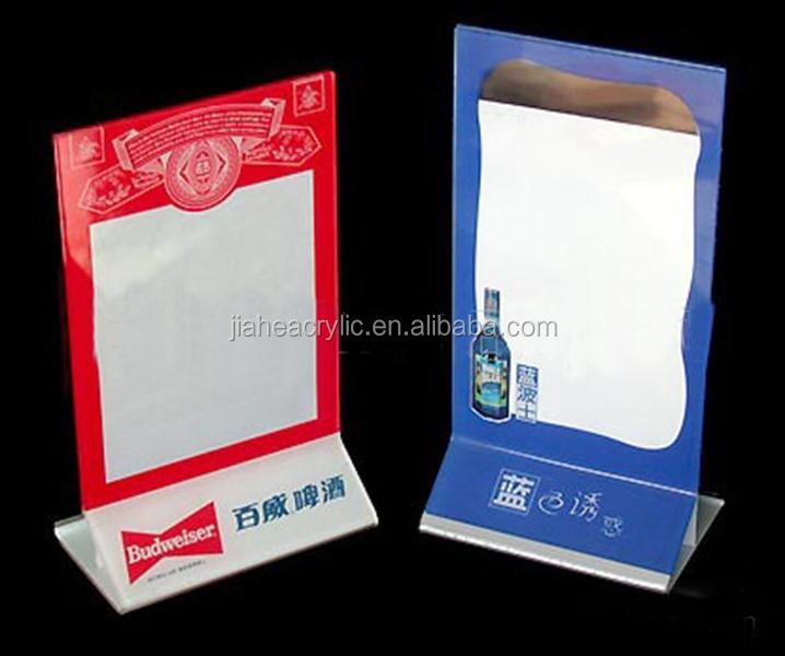 Wholesale Plexiglass Table Flip Menu Holder Transparent Acrylic A5 ...