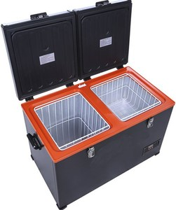 Double Temperature mobile fridge 100L Capacity carl freezer fridge
