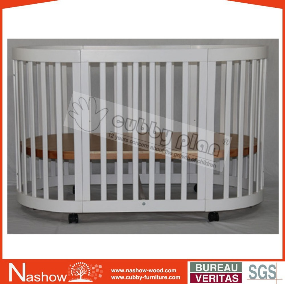 Cubby Plan LMBC-080-1 High Quality Popular Baby Furniture Wood Baby Oval Crib
