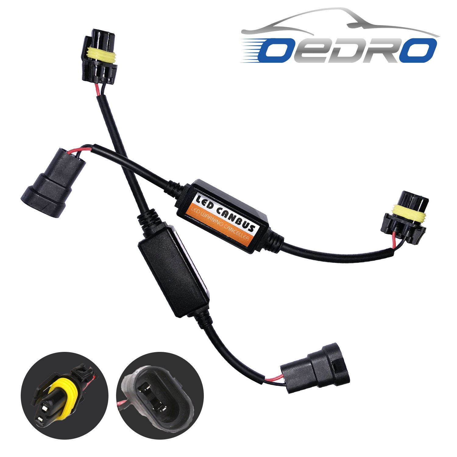 Cheap Headlight Resistor Find Deals On Line At 12v H11 Led Fog Light Lamp Load Wiring Hid Warning Canceller Get Quotations Oedro 9005 Hb3 9006 Hb4 9012 Conversion Kit Canbus Error Free Anti Flickering
