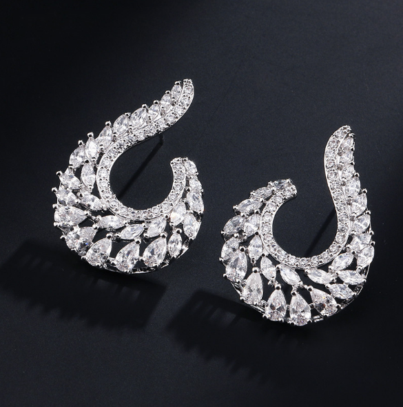 AAA Austrian Cubic Zirconia Bride Wedding Party Prom Evening Dress Earring