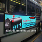 P16 outdoor led advertising display screen for bus