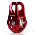 1pcs Outdoor Sports 20KN 2000kg Red Equipment Mountain Climbing Rope Pulley Arborist Tree Rappelling Sheaves Rock