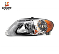 Headlights For Dodge Caravan Chrysler Town & Country Chrome Amber Crystal 01-07
