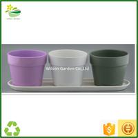 Ceramic flowers pots pottery for the garden glazed planters pots