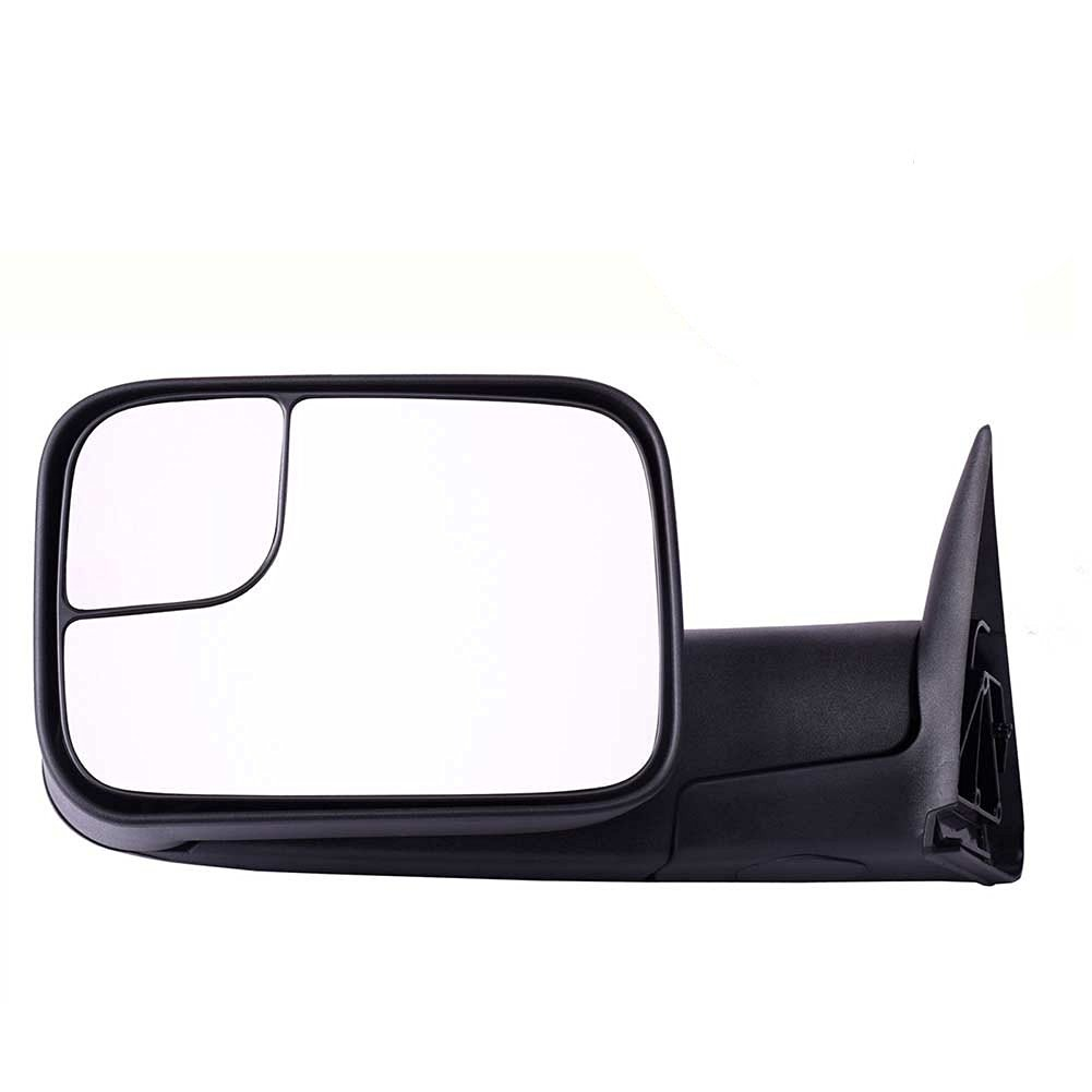 DEDC Dodge Tow Mirrors Dodge Ram 1500 2500 3500 Towing Mirrors Left Drivers Side Manual Folding With Support Brackets For 1994-2002 Dodge Ram 1500 2500 3500