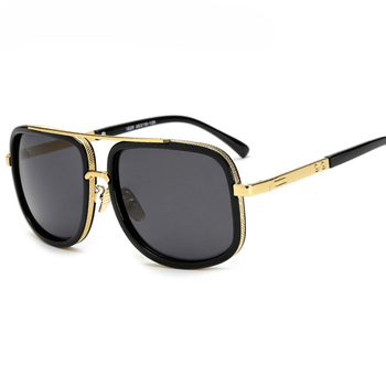 d10b515009 vintage retro gothic steampunk mirror sunglasses gold and black sun glasses vintage  round circle men UV