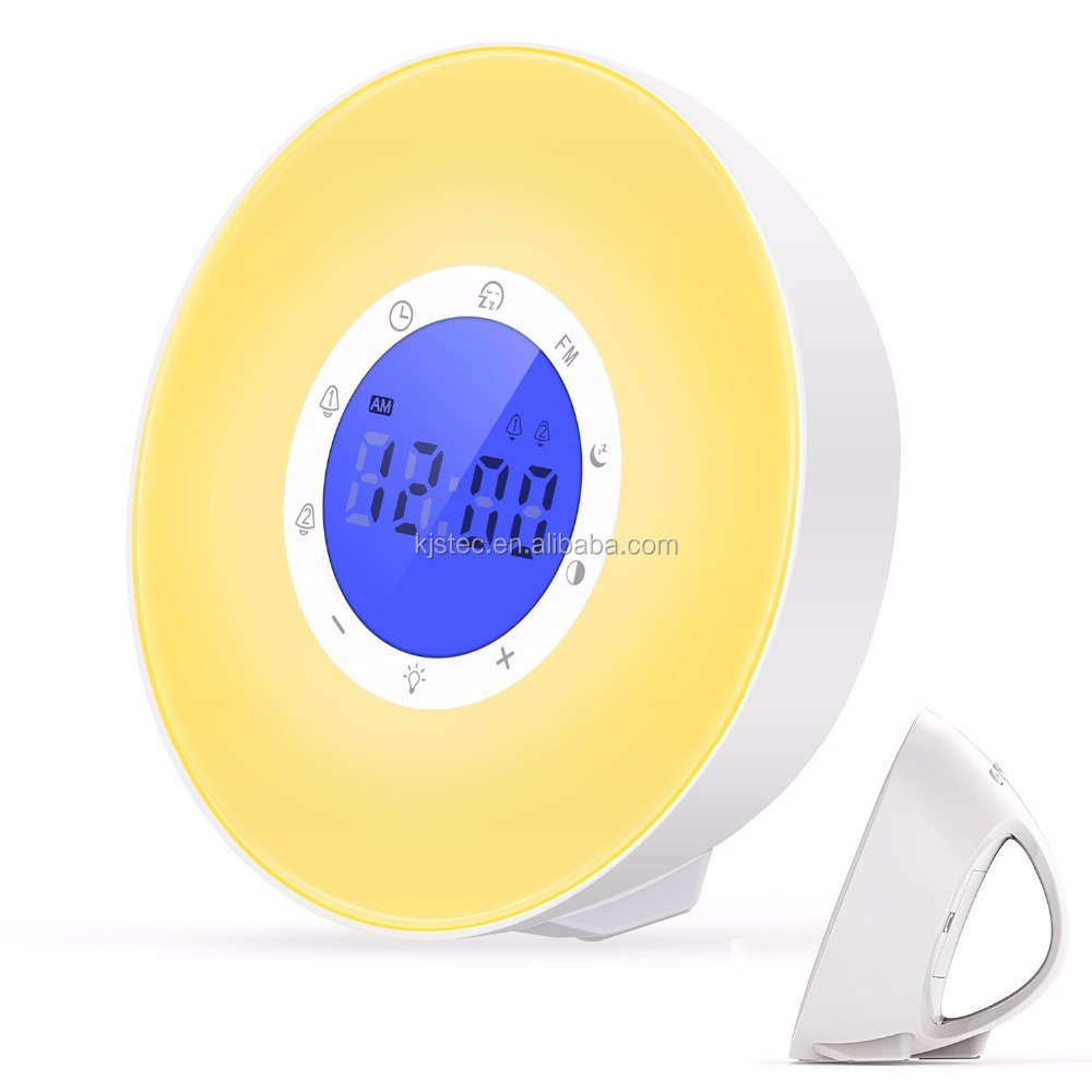 2018 creative gift intelligent unique sunrise usb alarm clock