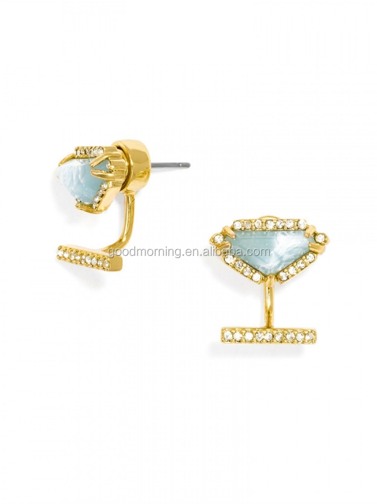 Oz Gemstone Crystal Ear Jackets